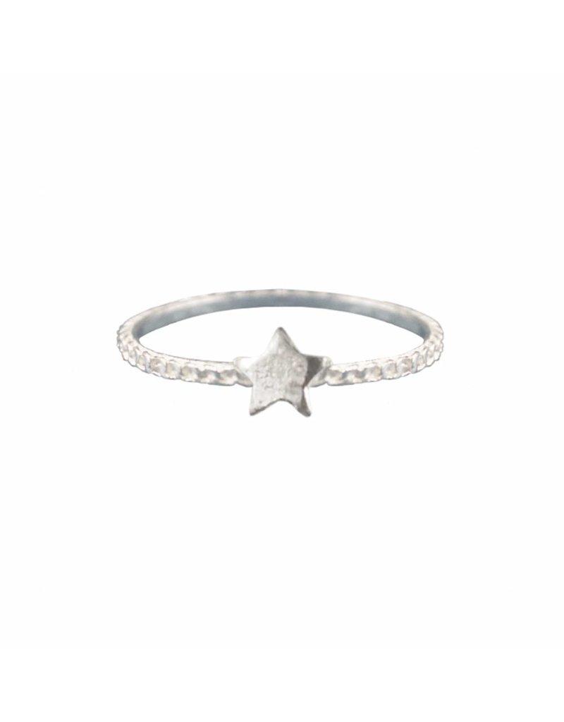 A la Zilveren ring met ster Abaa