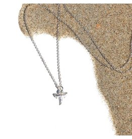 At Aloha Shark Silver Necklace