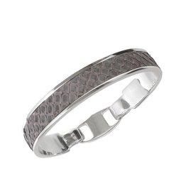 Bandhu Union Bracelet Light Grey Snake