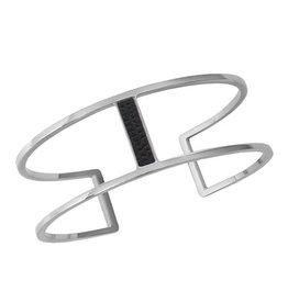 Bandhu Parallel Bracelet black croco