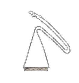 Bandhu Tiny Bar Necklace Grey/beige lizard