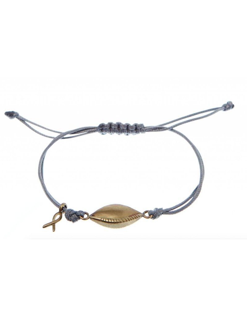 Bibi van der Velden Pink Ribbon armband 2015 grijs