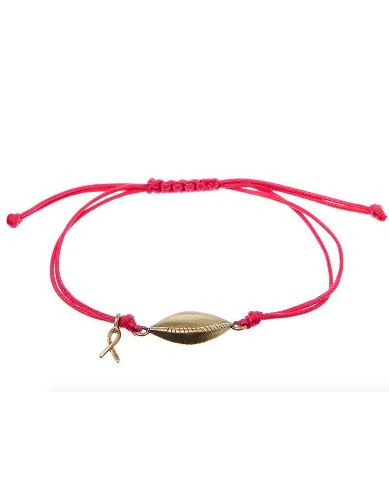 Bibi van der Velden Pink Ribbon armband 2015 roze