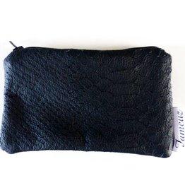 Fameuz Zwarte portemonnee python