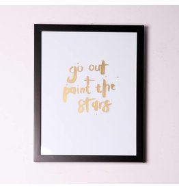 Create your own style Limited edition print 'Go Out + Paint the Stars'