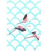 Catchii Vliegende flamingo's illustratie
