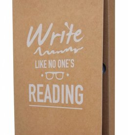 The Gift Label Notebook - Write like no one' s reading