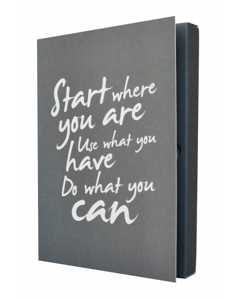 The Gift Label Notebook - Start where you are