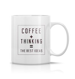 The Gift Label Mug - Coffee + Thinking = the best ideas