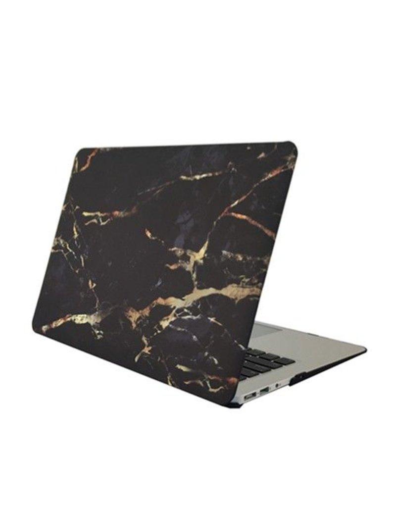 My Interior Musthaves Zwart marmeren macbook hard cover