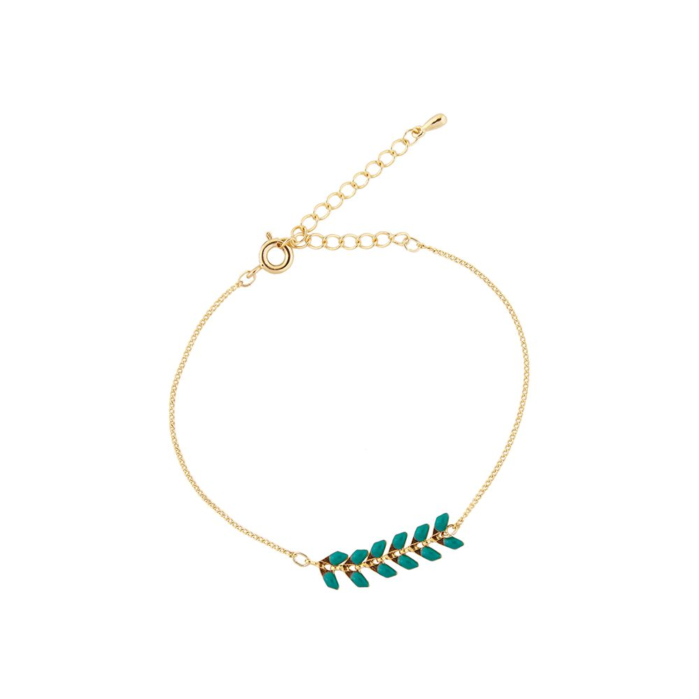 All the Luck in the World Gouden armband Tropics groen