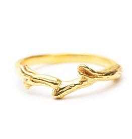 Riverstones Gouden ring Breathe