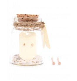 MIAB Jewels Tiny Tiny knopjes rosé goud