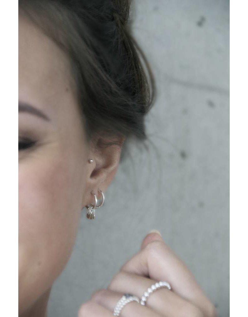 MIAB Jewels Roundy Rounds zilveren oorbellen