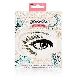 Metallic oog tattoos
