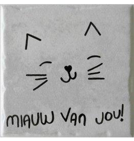 Gekkiggeit Tegel miauw van jou