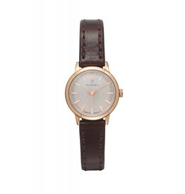 Renard Rose gouden Horloge met bruine band