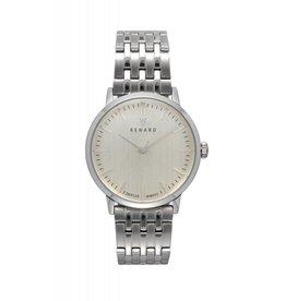 Renard Zilver horloge met schakelband