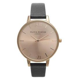 Olivia Burton Rose gouden horloge met zwarte band