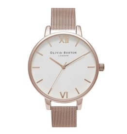 Olivia Burton Rose gouden horloge mesh