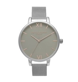 Olivia Burton Zilver horloge mesh