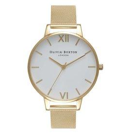 Olivia Burton Gouden horloge mesh