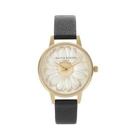 Olivia Burton Gouden horloge met bloem