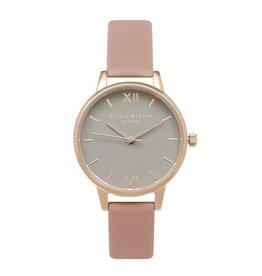 Olivia Burton Rose gouden horloge met roze band