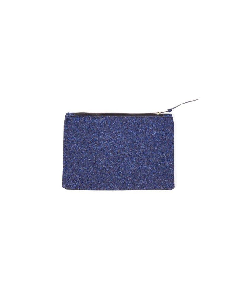 A la Glitter clutch blauw