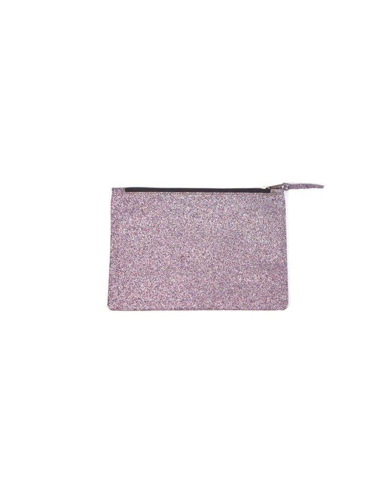 A la Glitter clutch roze
