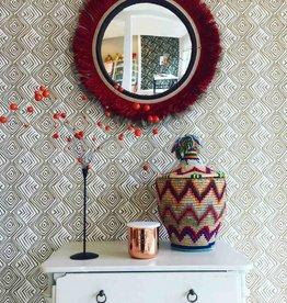Designed for Living Tribe Spiegel rood/ beige