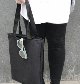Fameuz Zachte zwarte tote bag