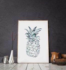 Annet Weelink Design A3 Poster Ananas