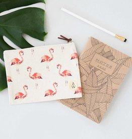 Annet Weelink Design Kleine clutch met flamingo print