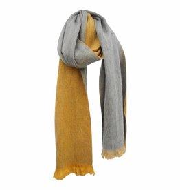 Bufandy Sjaal geel/lichtgrijs van Alpacawol