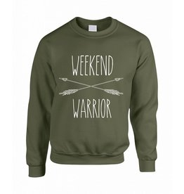 Believe the hype Groene trui Weekend warrior
