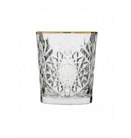 Things for drinks Set van 2 whiskey glazen met goud randje