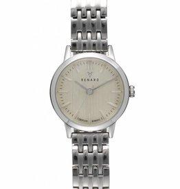 Renard Zilver horloge met schakelband klein