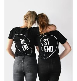 Zwarte Best Friends T-shirts