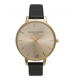 Olivia Burton Gouden horloge met zwarte band