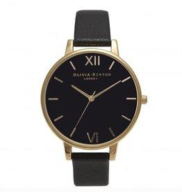 Olivia Burton Gouden horloge met zwarte klok