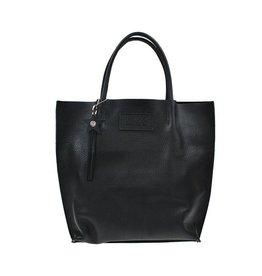 Napsoe Zwarte handtas van leer