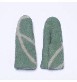 Wintervacht Groene wanten van duurzame wol