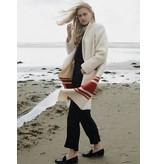 Wintervacht Crèmekleurige lange jas van duurzame wol