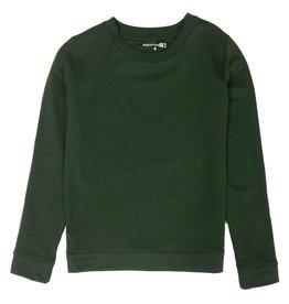 Zachte groene trui van biologisch katoen