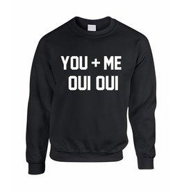 Believe the hype Zwarte trui You + Me oui oui