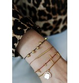 ANNA+NINA Rivet thread armband blush zilver