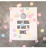 The Gift Label Confetti kaart dance