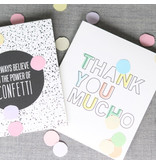The Gift Label Confetti kaart thank you