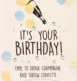 The Gift Label Confetti kaart birthday